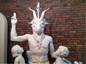 A photo of the proposed monument to Satan